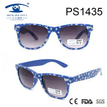 Classical Style Spot Pattern Sky Blue Frame PC Sunglasses (PS1435)